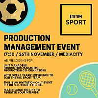 BBC Sport Production Management Event