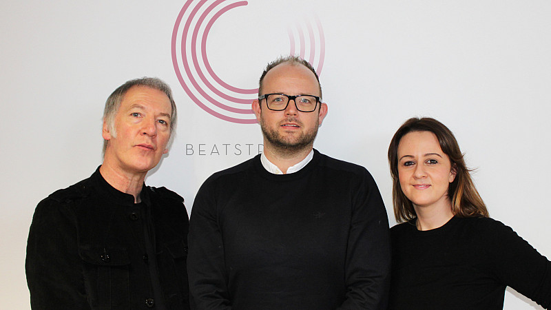 Clint Boon with the Beatstream founders
