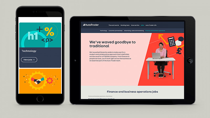 a106356542 Auto Trader has unveiled a new careers website created by digital design  studio magneticNorth.