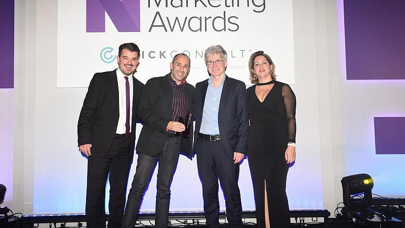 R.O.EYE founder Mark Kuhillow at the Northern Marketing Awards