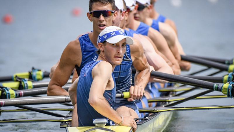USA team coxswain Julian Venonsky / pic credit: USRowing