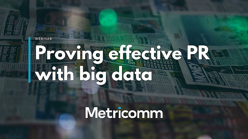 Proving effective PR with big data