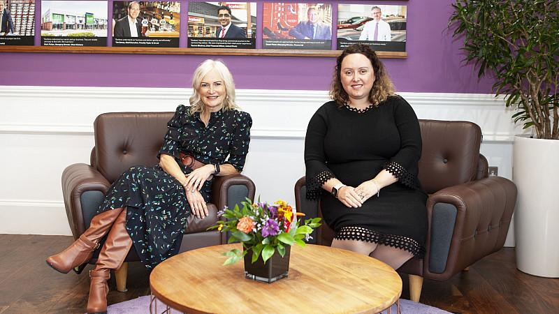 Helen Oldham (left) and Gordons' Amy Pierechod