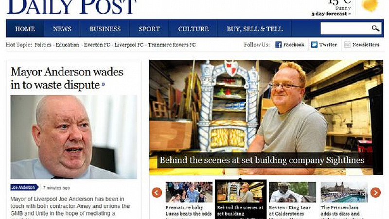 Liverpool Daily Post Goes Live With New Website Prolific North