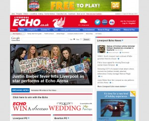 Liverpool Echo's website
