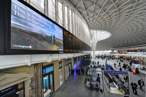 Campaign advertising at King's Cross station