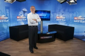 Fred Done on the set of Betfred TV