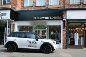 Black White Denim in Wilmslow