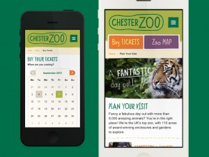 Chester Zoo's new mobile site