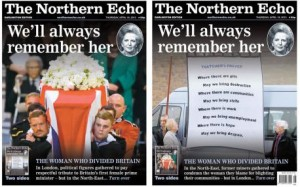 Thatcher Northern Echo
