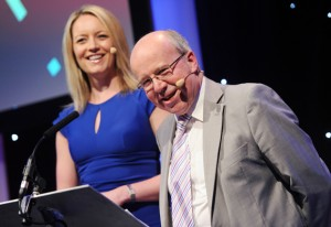 Beccy Meehan and Jim Hancock were the night's hosts