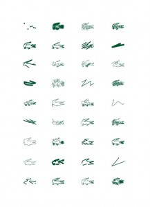 Some of Saville's designs for Lacoste