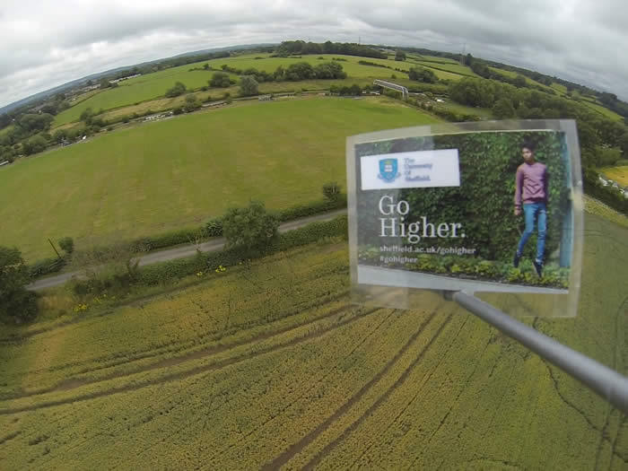 The University of Sheffield launches campaign with a billboard in space