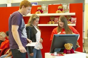 Redrow stand visitors using USP's calculator