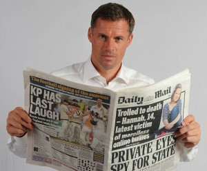New Daily Mail columnist Jamie Carragher. Pic: Daily Mail