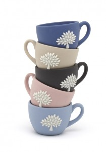 Mulberry stacked teacups