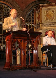 Norman speaking on the Euston Manifesto. Picture courtesy of Anthony Cox