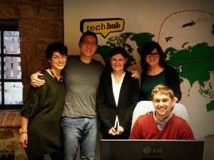 Collider founder Rose Lewis (second from right) with Moment.Us staff at Collider12