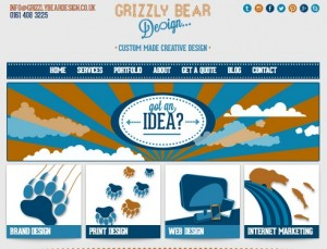 Grizzly Bear Design website