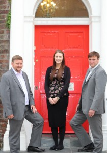 New hires (l-r) Alec Doyle, Beth McKenna and James Bates