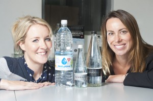 Nina Hands from Aberfield (left) with Water Brands' Nicky Reeve