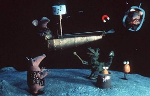A still from the original Clangers series