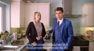 A scene from the latest Moneysupermarket.com ad campaign