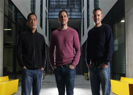 Fatsoma founders Ben Taylor, Paul Stacey and Chris Pearson
