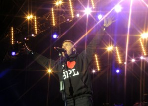 Gary Barlow performs at the Switch-On