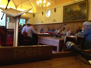 Councillors at work in Richmondshire where filming is allowed