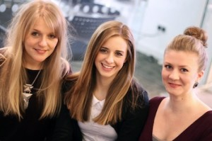 L- R Victoria Bartram Abi Camwell and Lauren Turner join the Turn Key PR...