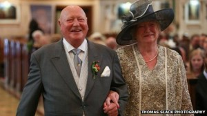 Brian Hitchen and wife Nelli at their son Alexander's wedding in September
