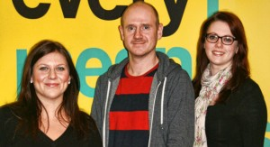 (l-r) Steph Guy, David Vesty and Hannah Dell'Armi