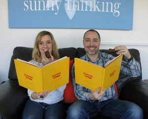 Scribble's Helen Dugdale with Jonathan Reed of Sunny Thinking