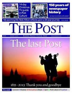 The final edition of the Liverpool Post