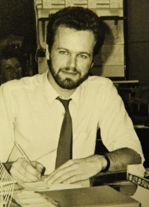 Baker in his early days at the Press (pic: York Press)
