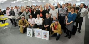 The departing Yorkshire post staff members (pic courtesy of @NicolaFurbisher)