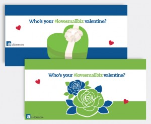 Some of the creative from the Valentine's Day campaign