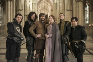 The cast of Bill filming in York Minster