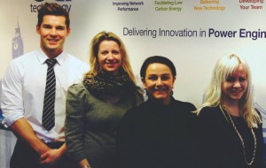 EA Technology's Alex Smith (second from right) with de Winter's Lee Cullen, Sophie Everett and Jess Reid
