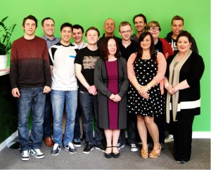 Some of Ph's new recruits since winning £500k of investment, including finance director Helen Adams (front middle)