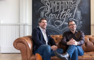 Epiphany CEO Rob Shaw (L) with Jaywing chief executive Martin Boddy