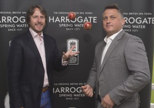 Darren Gough and James Cainphotocall for Harrowgate Water,