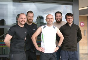 From L to R - Matthew Mace, Adam Nicolson, Steve Brennan, Adam Pattison and Gary Bennion