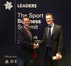 The Works' Paul Peppiate with Leaders founder and CEO James Worrall