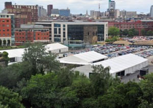 The Grand Depart media centre Pic: Yorkshire Evening Post