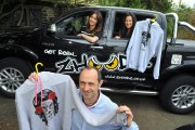 Zhoodz Founder Steve Cooper (front) pictured with Ellie Adshead and Anthea Fosti from Zeus PR (left to right)