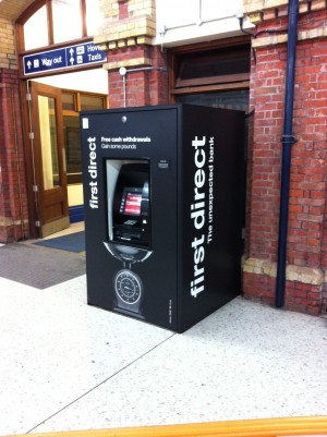 One of the new branded cash machines
