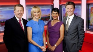 The BBC Breakfast team with Munchetty second from right