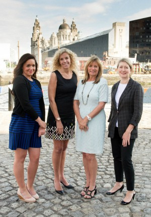 The Weber Shandwick team at the Liverpool Waterfront